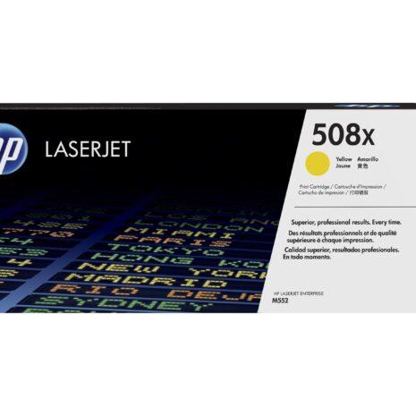 HP 508X toner LaserJet Jaune grande capacité authentique