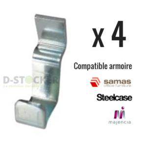 Taquets métalliques pour étagères réglables x4 - Déstockage professionnel d'occasion à petit prix