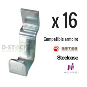 Lot taquets d'étagère compatibles aux armoires : Steelcase, Samas, Majencia.