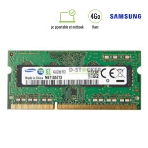 Barrette de mémoire vive Samsung 4Go pour pc portable et netbook
